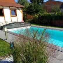 Polypropylenschwimmbecken mit Skimmer